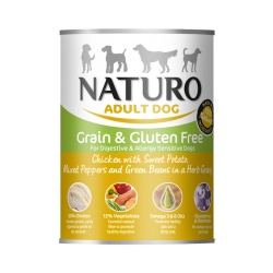 Naturo Dog Lata Pollo y Vegetales - Grain Free