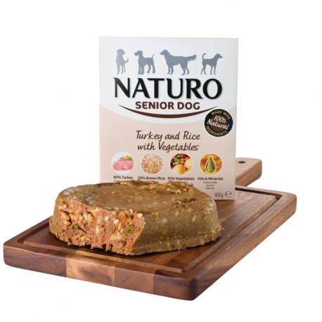 Naturo Dog Senior Pavo y Arroz